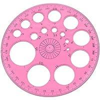 YNuth 360 Grados Círculo Graduado Regla de Plantilla Circular de Color Aleatorio