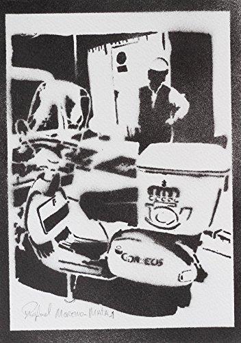 Briefträger Vespa Handmade Street Art - Artwork - Poster