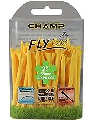 Champ Zarma Fly Tee 70mm Tees de golf (lot de 40 ) Jaune