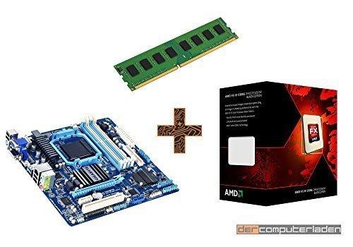 PC Aufrüstkit AMD, FX-8350 8x4,0 GHz, 8GB RAM, Radeon HD3000 -1GB, Mainboard Bundle, Tuning Kit, fertig montiert, dercomputerladen