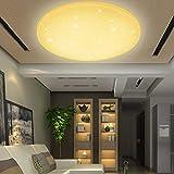 VINGO 50 Watt Starlight Effekt LED Deckenleuchte Warmweiß Empfangsbereichen Deckenbeleuchtung Badleuchte,4750lm Lichtstrom
