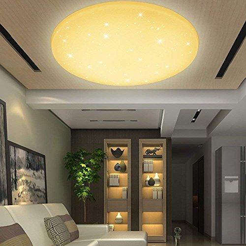 VINGO® 50 Watt Starlight Effekt LED Deckenleuchte Warmweiß Empfangsbereichen Deckenbeleuchtung Badleuchte,4750lm Lichtstrom