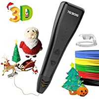 Tecboss 3D Pen, 3D Printing Drawing Pen for Arts Crafts DIY Perfect Gift for Kids and Adults,Compatible with PLA Filament,Safe and Easy to Use