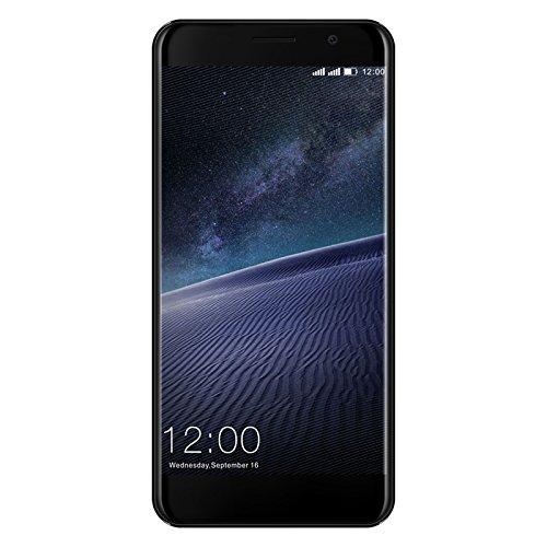 Leagoo M5 Edge 4G Smartphone, 5,0 Zoll Android 6.0 Quad Core 2GB + 16GB, 13.0MP + 8.0MP Dual Kameras, Metallrahmen, Dual SIM, Fingerabdruck Freigeschaltet Handy, Schwarz