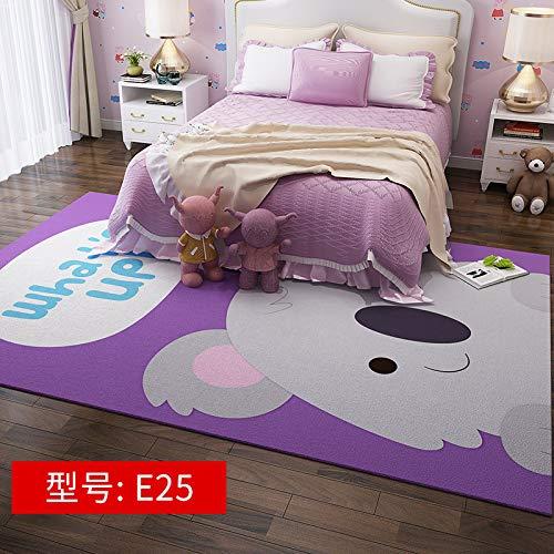 Niedlicher rosa Girly Herz- Cartoon 50CM * 80CM E25,Moderner Wohnzimmer Retro Baumwoll-Teppich mit Quaste Eingang Dünne Bodenmatte Handgewebt Teppichläufer rutschfest für Wohnzimmer Schlafzimmer usw.