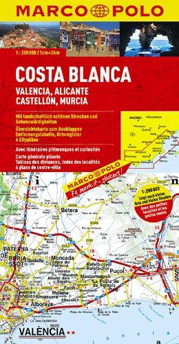 MARCO POLO Karte Costa Blanca, Valencia, Alicante 1:200.000 (MARCO POLO Karten 1:200.000)