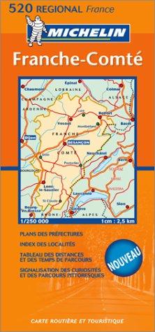 Carte routière : Franche-Comté