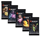 Magic The Gathering MTG Hauptset M19 - 5X Booster Pack mit komplettem Motiv-Set - Deutsche Ausgabe