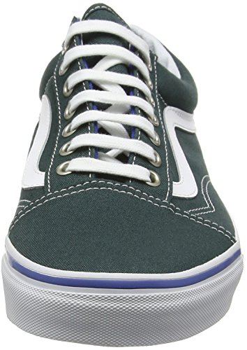 Vans Old Skool, Baskets Basses Mixte Adulte Vert (green gables/true white)
