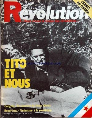 Cinema Au Feminisme - REVOLUTION [No 10] du 09/05/1980 - cannes