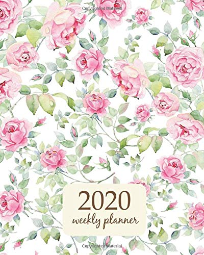 2020 Weekly Planner: Calendar Schedule Organizer Appointment Journal Notebook and Action day With Inspirational Quotes  Watercolor English roses ... (Weekly & Monthly Planner 2020, Band 412) Blue Rose Japan