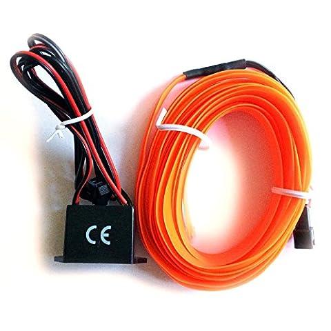 inion® & # X2600; EL–Ambiance Éclairage & # X2600; avec Inverter 12V/adaptateur innovants et uniques EL Lumière Bande Stripe de votre choix. lumineuse à LED pour éclairage d