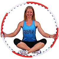 ResultSport Anion Massage Weighted 0.75kg (1.65lbs) Fitness Exercise Hula Hoop 105cm wide