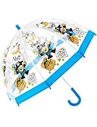 Bugzz Kids Clear Pirate Print Umbrella Transparent and Blue