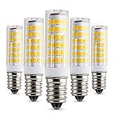 Albrillo 5W E14 LED Lampe 75 SMDs nicht dimmbar, warmweiß, 450 Lumen, 5er Pack