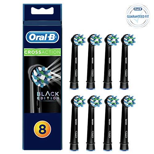 Oral-B Cross Action Black Brossettes de Rechange pourBrosse à Dents Électrique 8x