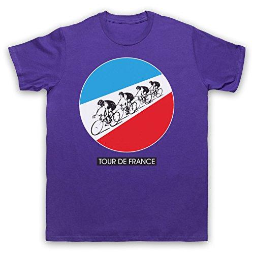 Inspiriert durch Kraftwerk Tour De France Unofficial Herren T-Shirt Violett