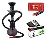 #6: JaipurCrafts Premium Combo Of 12 Inch Bombino Glass, Iron Hookah, 10 Hookah Disk And Premium Hookah Flavour ( Color May Very)