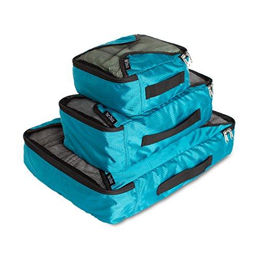 Your Choice Etuis Cubes de Voyage Emballage Sets Portable Organiseurs de Bagage Sacs Housse de Vêtement (bleu-vert)