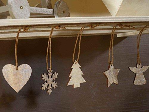 Decorazioni In Legno Per Albero Di Natale : Gruppo maruccia decorazioni per albero di natale in legno confezione