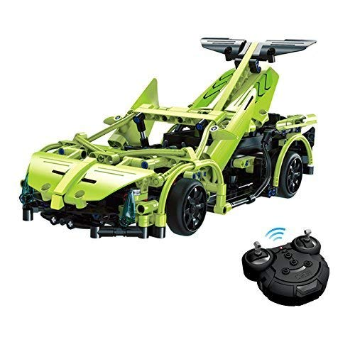 YLJYJ RC Steckbausatz DIY ferngesteuertes Auto Sportwagen Car aus Bausteinen zum selber Bauen, Block Building Brick Fahrzeug, Auto, Car Geeignet für Kinderspielzeug ab 4 Jahren Intelligent