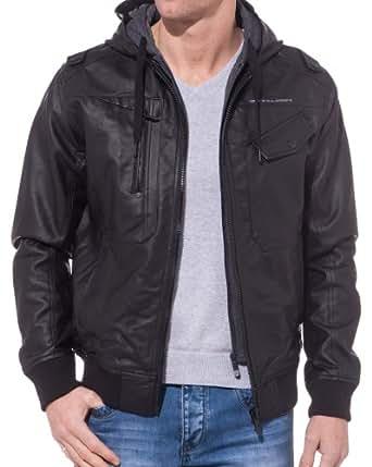 BLZ jeans - Veste Noire Homme à Capuche - couleur: Noir - taille: XL