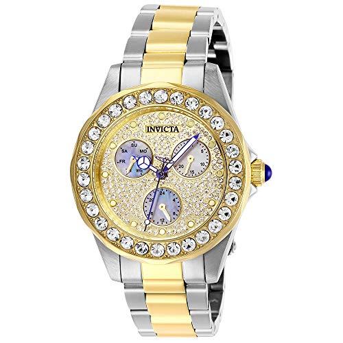 Invicta Women's Angel 38mm Two Tone Steel Bracelet Quartz Analog Watch 28459