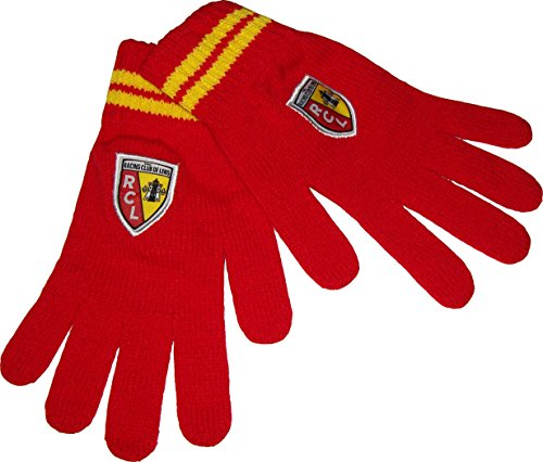 RC LENS Gants Collection officielle RACING CLUB DE LENS - RCL - Taille adulte homme S/M