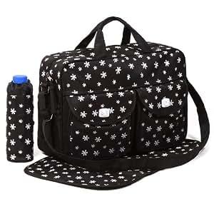 Black 3pcs Baby Diaper Nappy Changing Bag Set B:Daisy Design