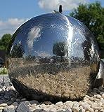 Kugelbrunnen 40 cm incl. LED Komplettset Gartenbrunnen Wasserspiel Edelstahl poliert