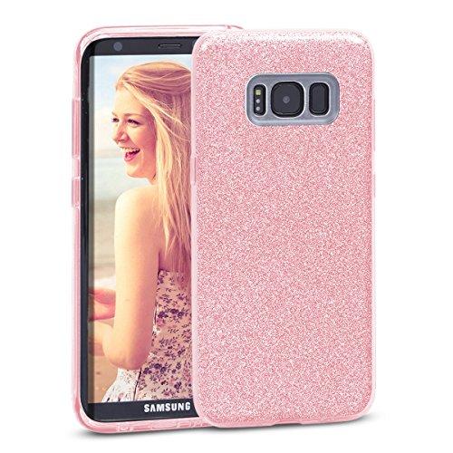 Samsung Galaxy S8 Hülle, Glitzer Schutzhülle [Weiche TPU Abdeckung + Glitzer Papier + PP innere Schicht] [Drei in Einem] Handyhülle für...