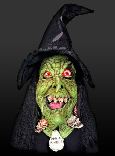 Hexe Hexenmaske Hexendeko Maske Deko übergroß 84cm Halloween Karneval
