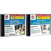 Pack 2 logiciels - Dessinez vos plans de maison + dessinez vos plans de cuisine - PC
