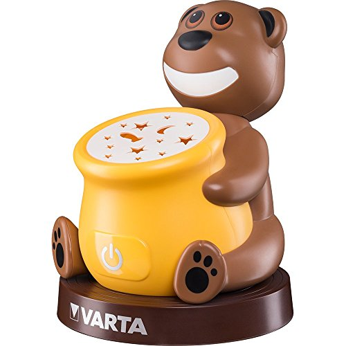 Varta Paul the Bear Night Light Lampada LED da Comodino per Bambini, 3 Batterie AA Stilo Incluse