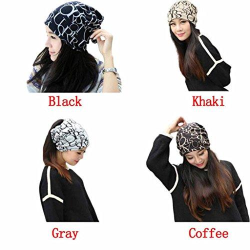 Bonnet, Koly Hip-Hop De Mode Classic Anglais Lettre Multi Purpose Baggy Chapeau Unisexe ÉCharpe Beanie Cap Noir