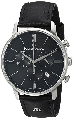 maurice-lacroix-mens-eliros-quartz-stainless-steel-and-leather-casual-watch-colorblack-model-el1098-