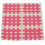 Kinseologie Gittertape 3,6 cm x 2,8 cm 10 Bögen in Pink, Cross Patches, Cross Tape