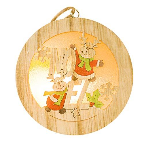 Alileo lampada a led in legno albero di natale addobbi per l'albero di natale decorazione festa in casa decorazioni natalizie, a