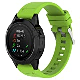 Gosuper Newest Soft Silicone Sport Replacement Strap for Garmin fenix5/forerunner935/quatix5/quatix5 Sapphire/Approach S60
