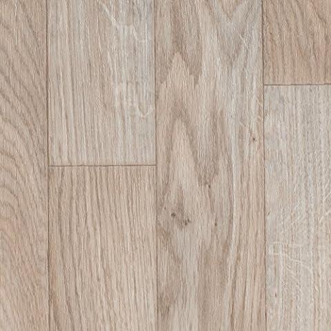BODENMEISTER BM70555 PVC CV Vinyl Bodenbelag Auslegware Holzoptik Schiffsboden Eiche weiß 200, 300 und 400 cm breit, verschiedene Längen, Variante: 3 x 4