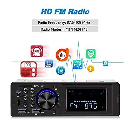 homeasy-1Din-Autoradio-Bluetooth-mit-Freisprecheinrichtung-FM-Tuner-Auto-Midea-Player-Digitale-Stereoanlage-Autoradio-USB-mit-AUXTF-Audioeingang-und-35mm-Audiokabel
