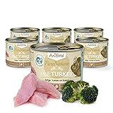 AniForte Katzenfutter Fine Turkey 6 x 200g für Katzen, Nassfutter ohne künstliche Vitamine und chemische Zusätze