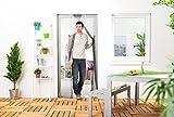Culex Fliegengitter für Türen 2 x 60 x 210 cm, anthrazit/grau, 100450105-CU