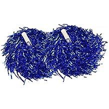 1par animadora pompones para despedida Fancy Dress -- 6brillante metaliccolours (0.025kg/PC), azul