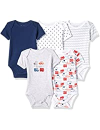 Rene Rofe Baby Baby 5 Pack Lap Shoulder Bodysuits (Many Options Available)
