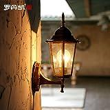 LIYAN minimalistische Wandleuchte Wandleuchte E26/E31042Außen-Wandleuchte kreative Innenhof villa Licht - wassersäule Scheinwerfer antiken Wandleuchten, warmes Gelb mit 4 W LED-Lampe