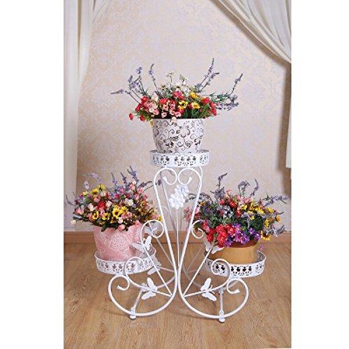 0bd72f035612 QFF Porte-fleurs en fer de style européen   étagère multi-plancher pots à