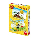 Dinotoys 381414 Qualität Puzzle;Kleines Maulwurf-Motiv, 2x48 Stück