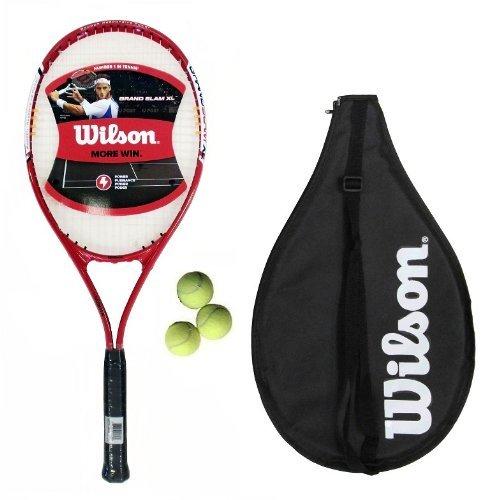 Wilson Grand Slam XL Blau Erwachsene/Jugend Tennisschläger + 3Tennisbälle, 50L3