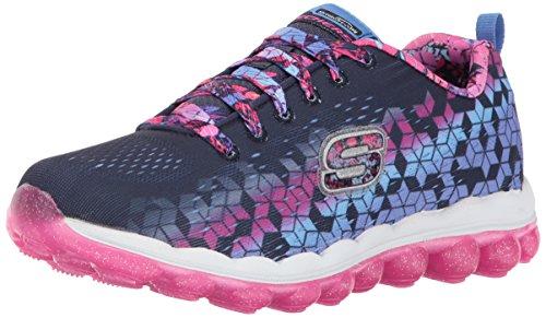 Skech-Air-Fade N'Fly Sneaker, Navy/Hot Pink, 11.5 M US Little Kid ()